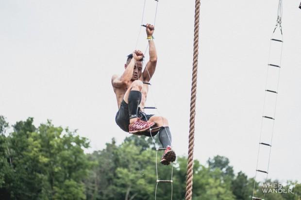 BattleFrog 15K Obstacle Course Race Rope-Ladder Transfer