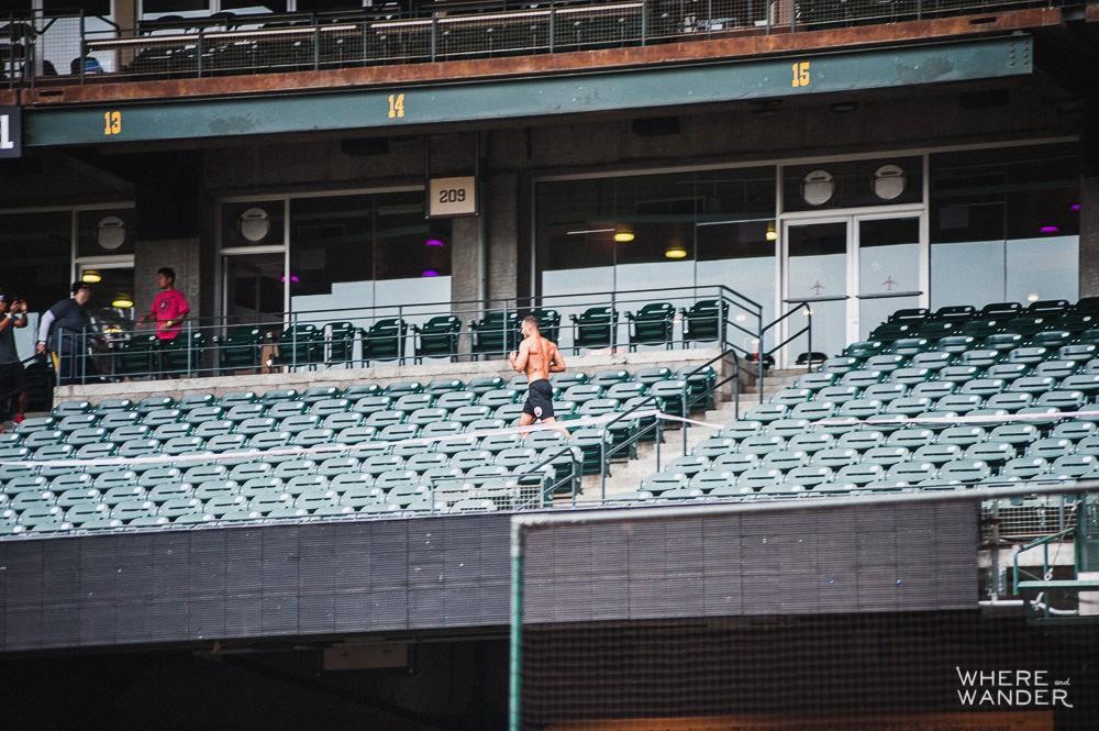 Running Stadiums Steps AT&T Park Spartan Stadium Sprint