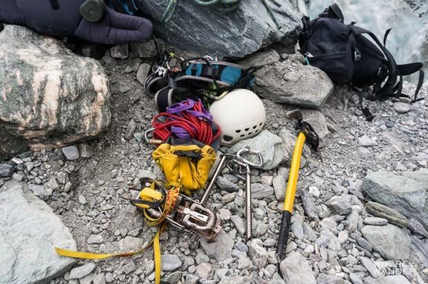 Ice climbing Equipment and Helmet