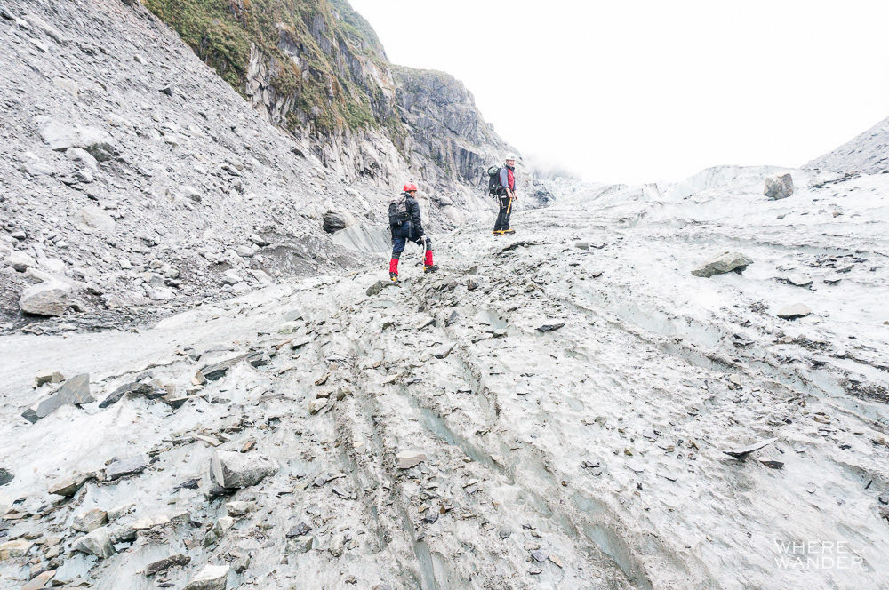 Ice climbers hiking at Fox Glaciers