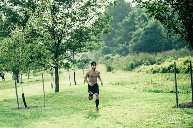 Kien Lam Running At Merrell Down and Dirty Obstacle Race