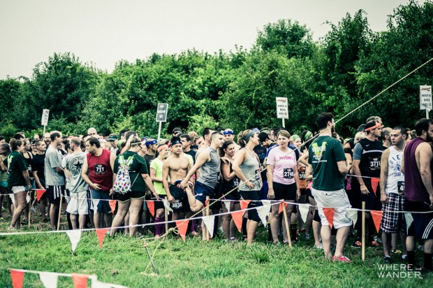 Starting Line At Merrell Down and Dirty Obstacle Race