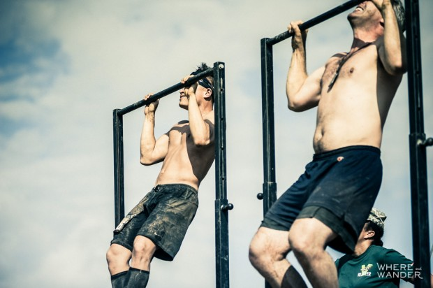 Pull-Up Competition At Merrell Down and Dirty Obstacle Race