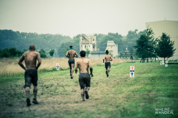 Leading The Pack At Merrell Down And Dirty Race