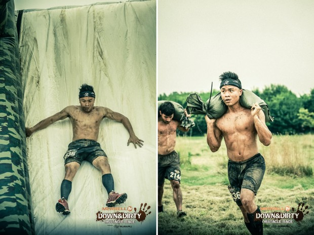 Sandbag and Slide At Merrell Down and Dirty Obstacle Race