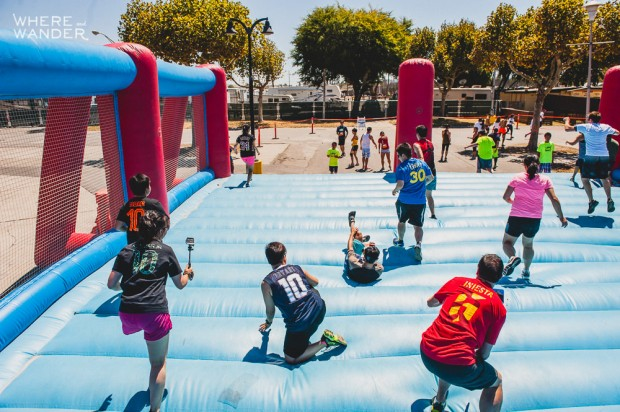 ROC Race 5K Obstacle: Moon Bounce