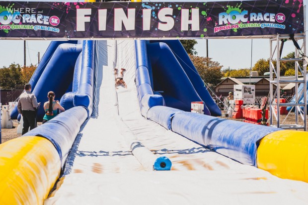 ROC Race 5K Obstacle: World's Largest Inflatable Slide