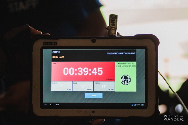 AT&T Park Spartan Stadium Sprint Results Timing Tablet