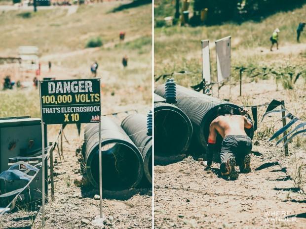 Tough Mudder Prank 100000 Volts Crawl