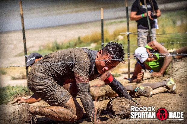 Spartan Beast Barbed Wire Crawl