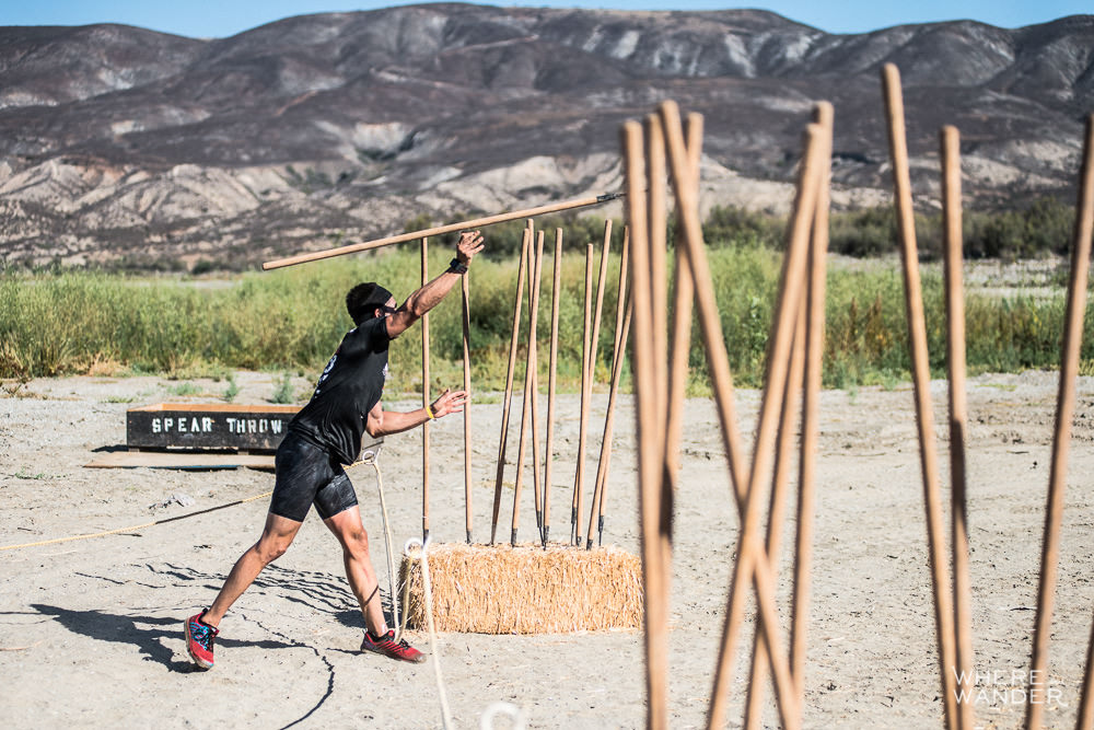 Spartan Race Spear Throw