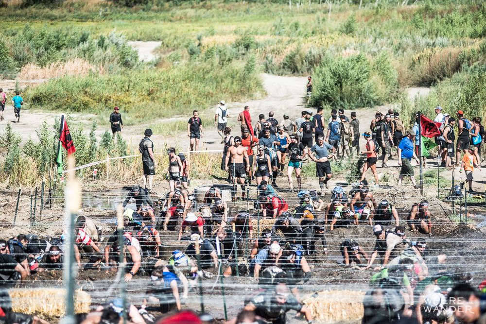 Spartan Race Barbed Wire Log Jam
