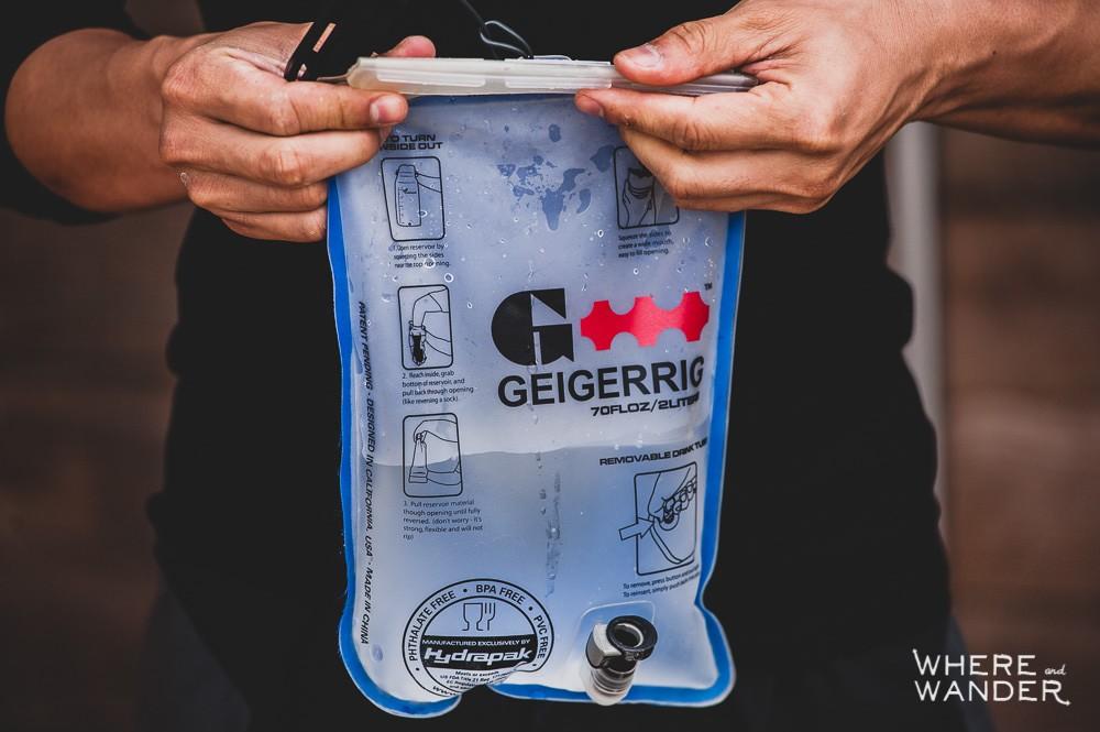 Geigerrig 2 Liter Hydration Engine Half Filled Up