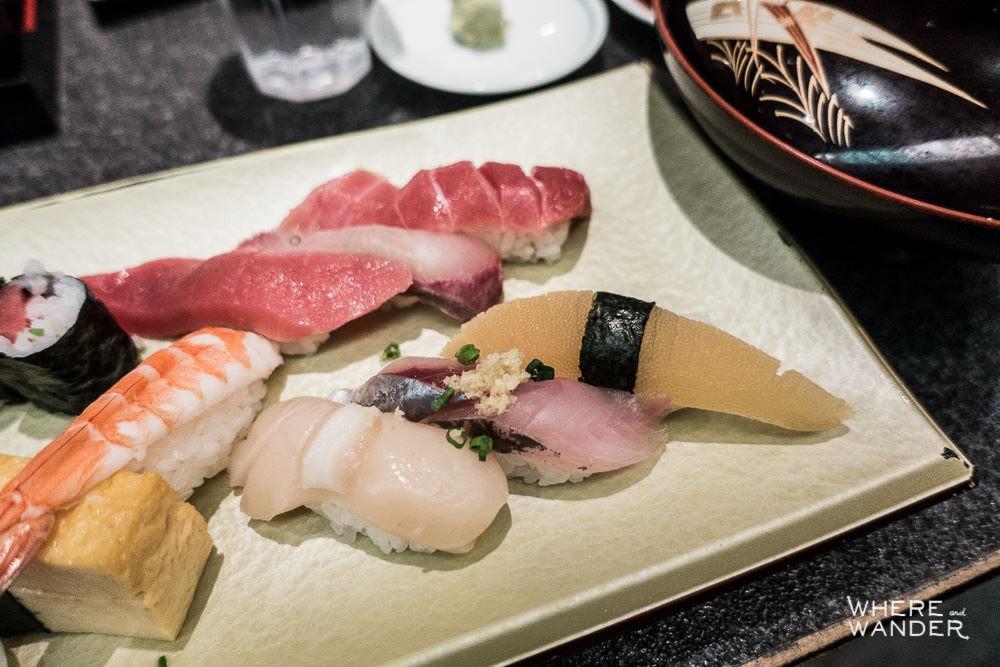 Nigiri Sushi Dish At 24 Hour Sushi Zenmai In Roppongi, Tokyo