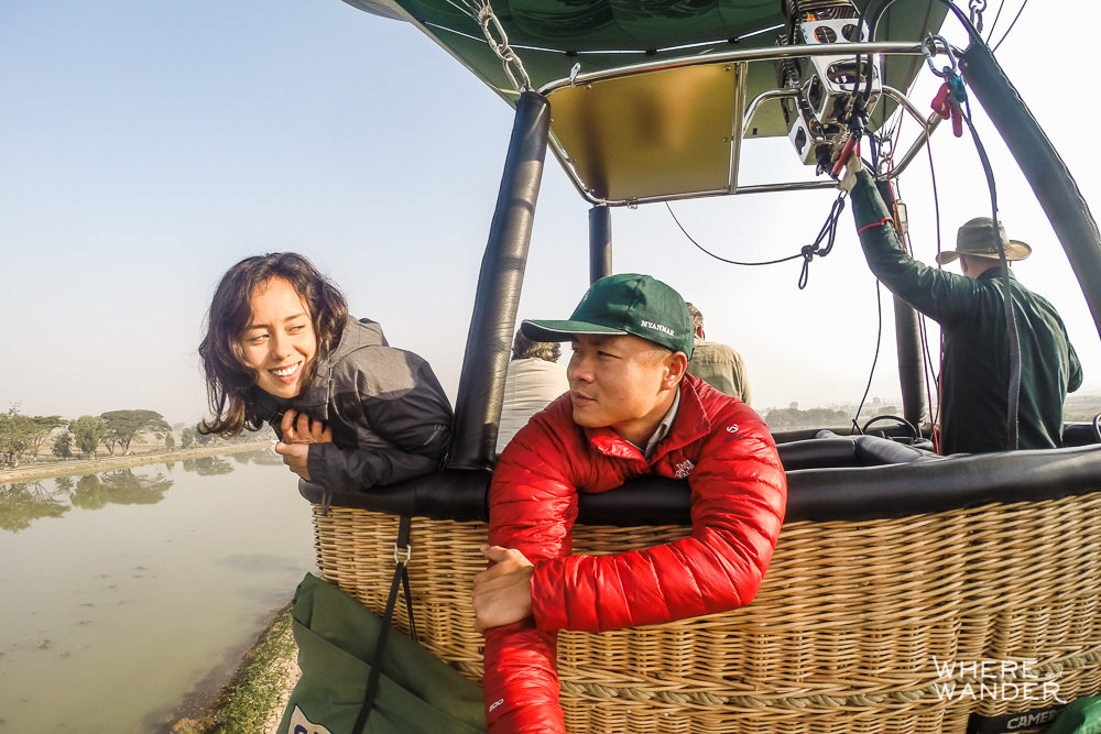 Epic Hot Air Balloon GoPro Selfie In Myanmar