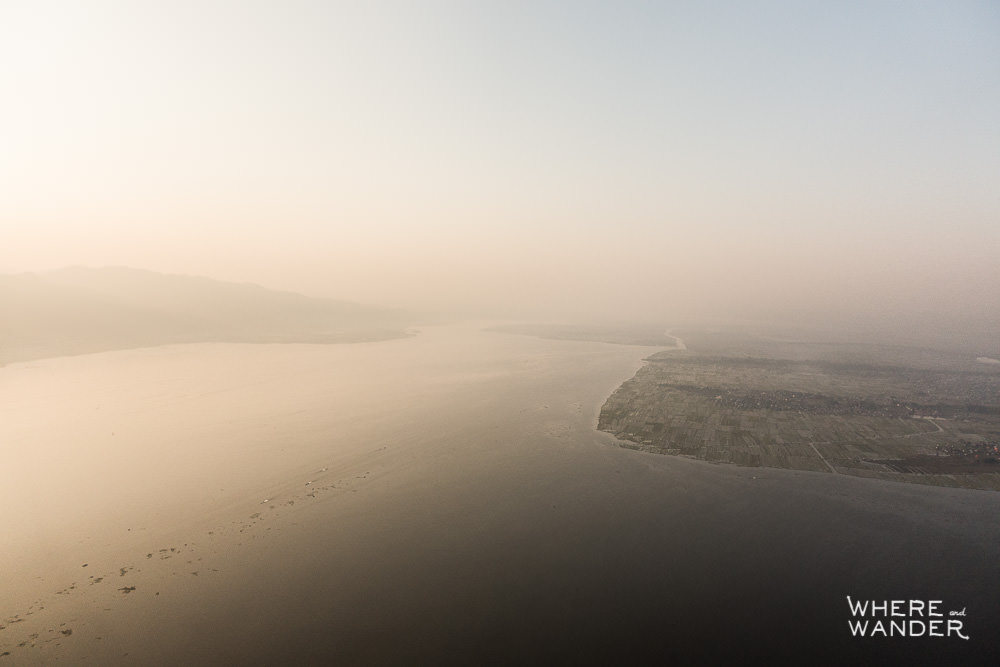 Aerial Sunrise Photography From Hot Air Balloon In Myanmar
