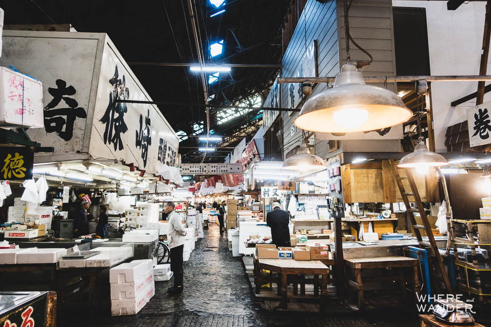 Inside The Tsukiji Fish Market During Opening Hours