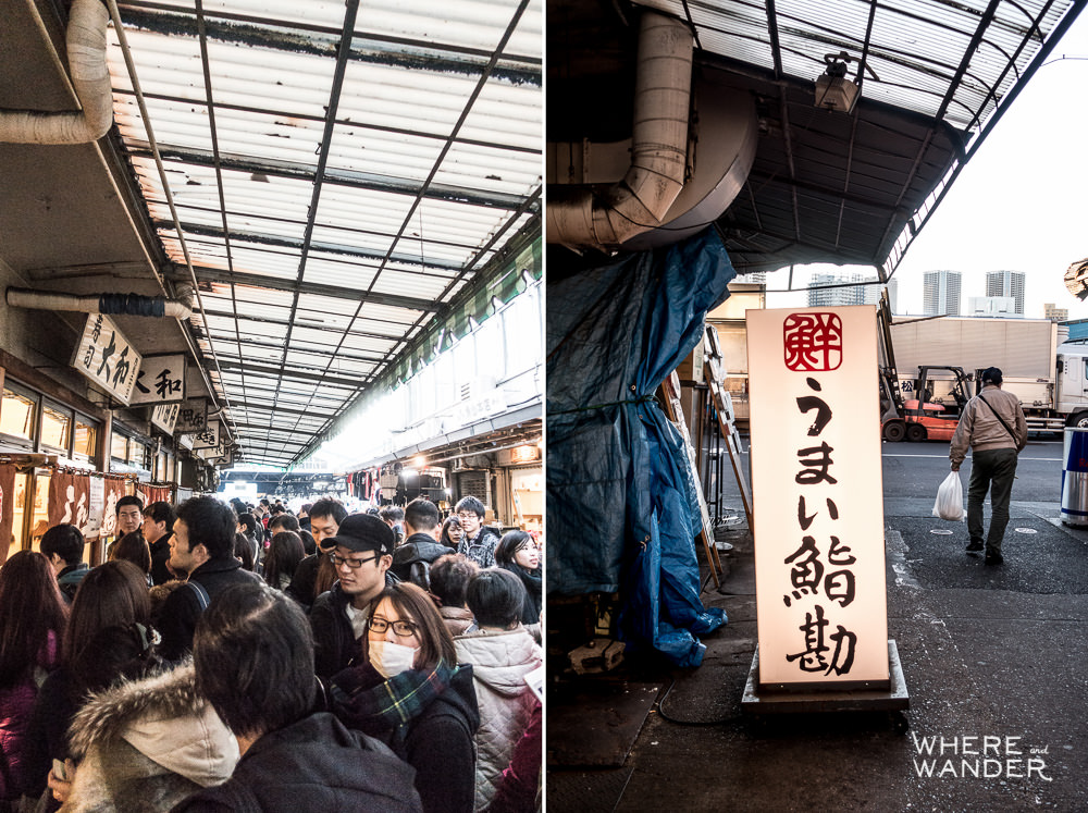Waiting In Line Outside Sushi Dai At Tsukiji Fish Market