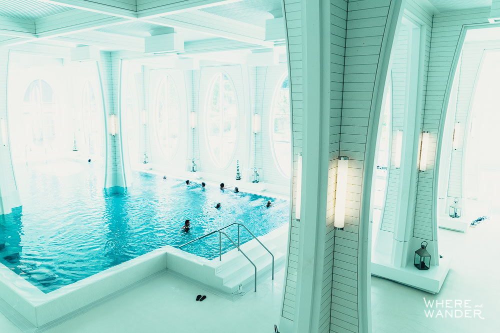 View From Second Level of Tamina Therme Bath In Bad Ragaz