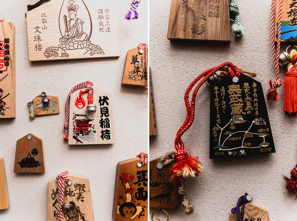 Japanese Wooden Ema Tablets At Onsen SF