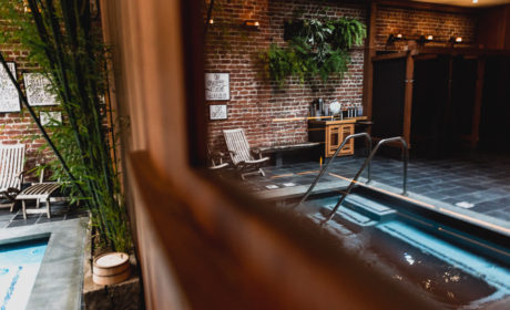 Reflection Of Hot Pool at Onsen SF