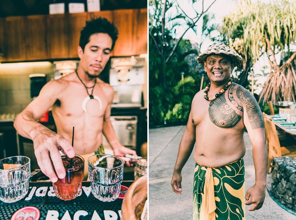 Old Lahiana Luau Open Bar Tropical Drinks