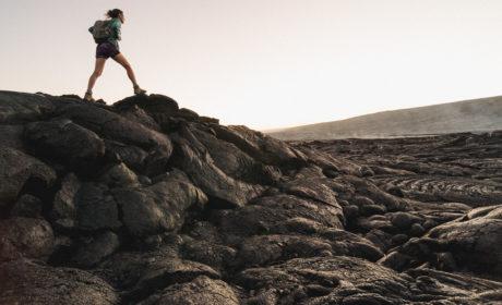 Girl Backpacking Alone In Hawaii