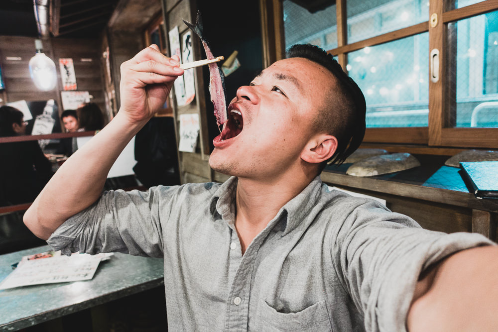 Eating Fugu Blowfish in Tokyo