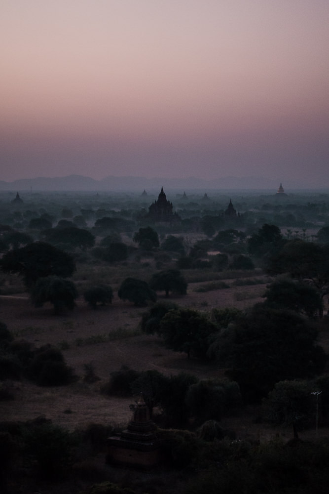 Shooting Bagan Pagodas At Sunrise