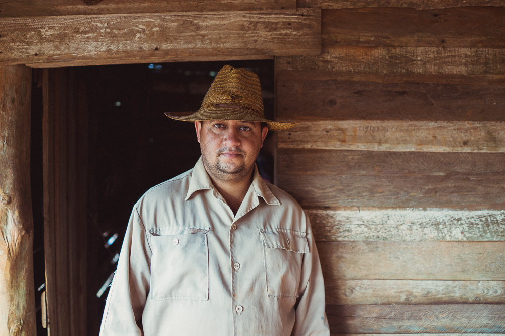 Portrait of Cuban tobacco farmer in Vinales