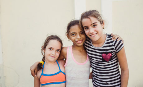 Portrait of Cuban girls in Cienfuegos