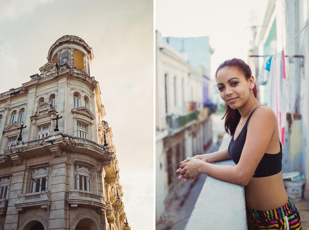 Portrait of Cuban woman in Havana