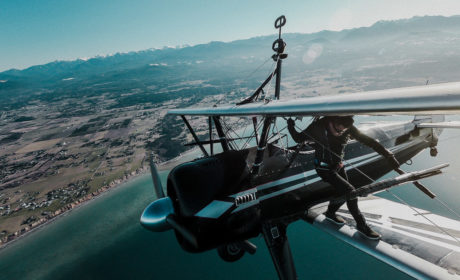 Wing Walking On Stearman Biplane