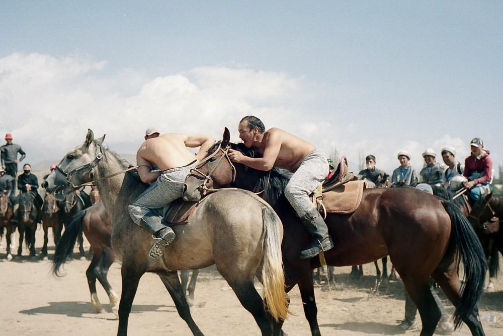 Kyrgyzstan Er Ernish Horseback Wrestling