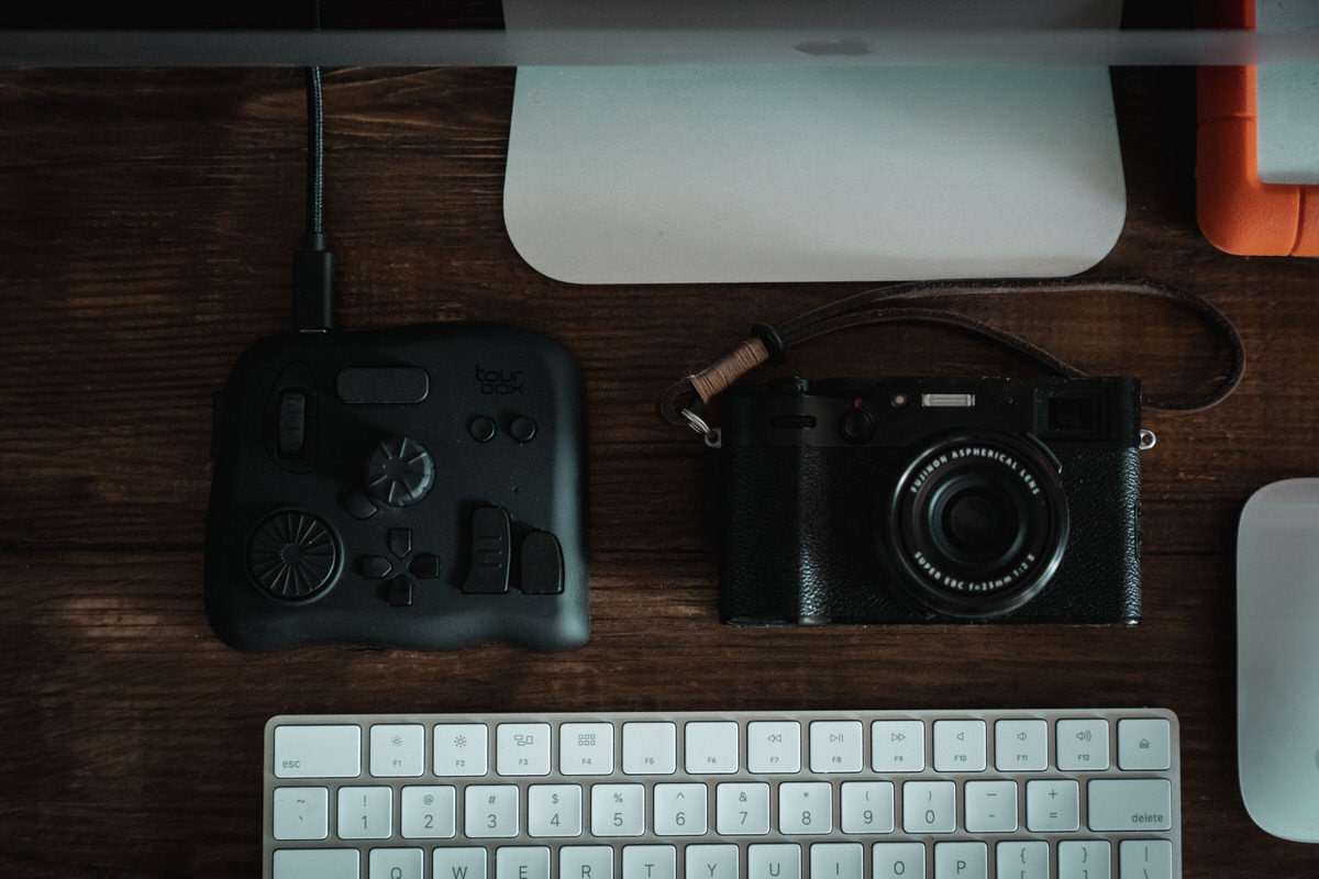 Tourbox and Fuji X100V with iMac setup