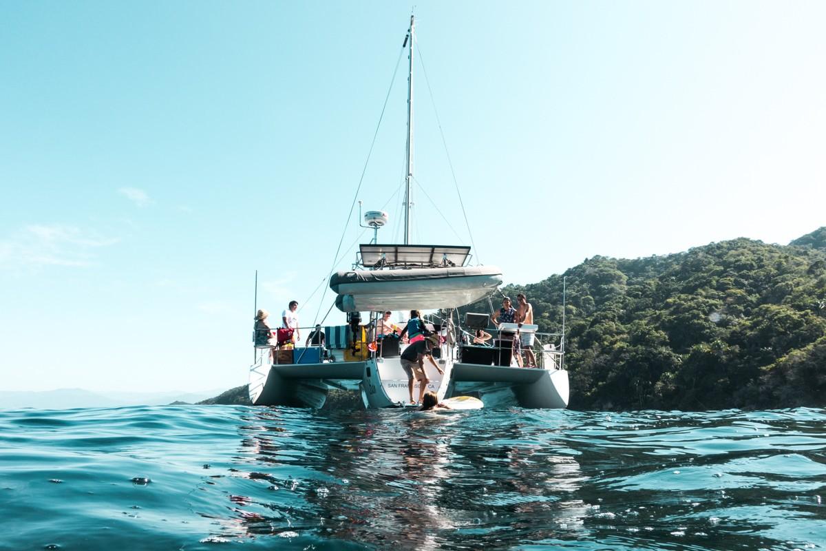 Allycat Catamaran near Marietas Islands