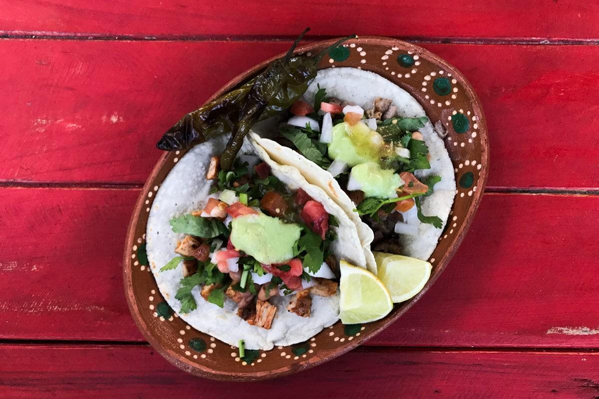 Tacos al pastor in Sayulita Mexico