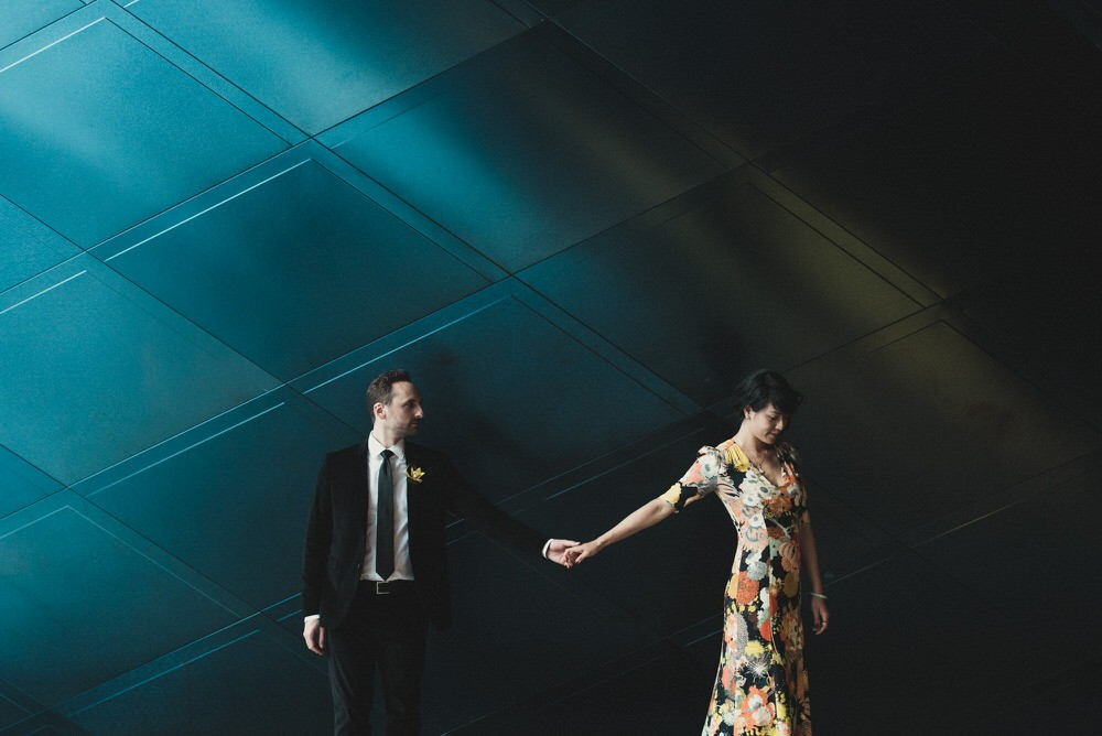 Wedding Shoot Outside Contemporary Jewish Museum in San Francisco